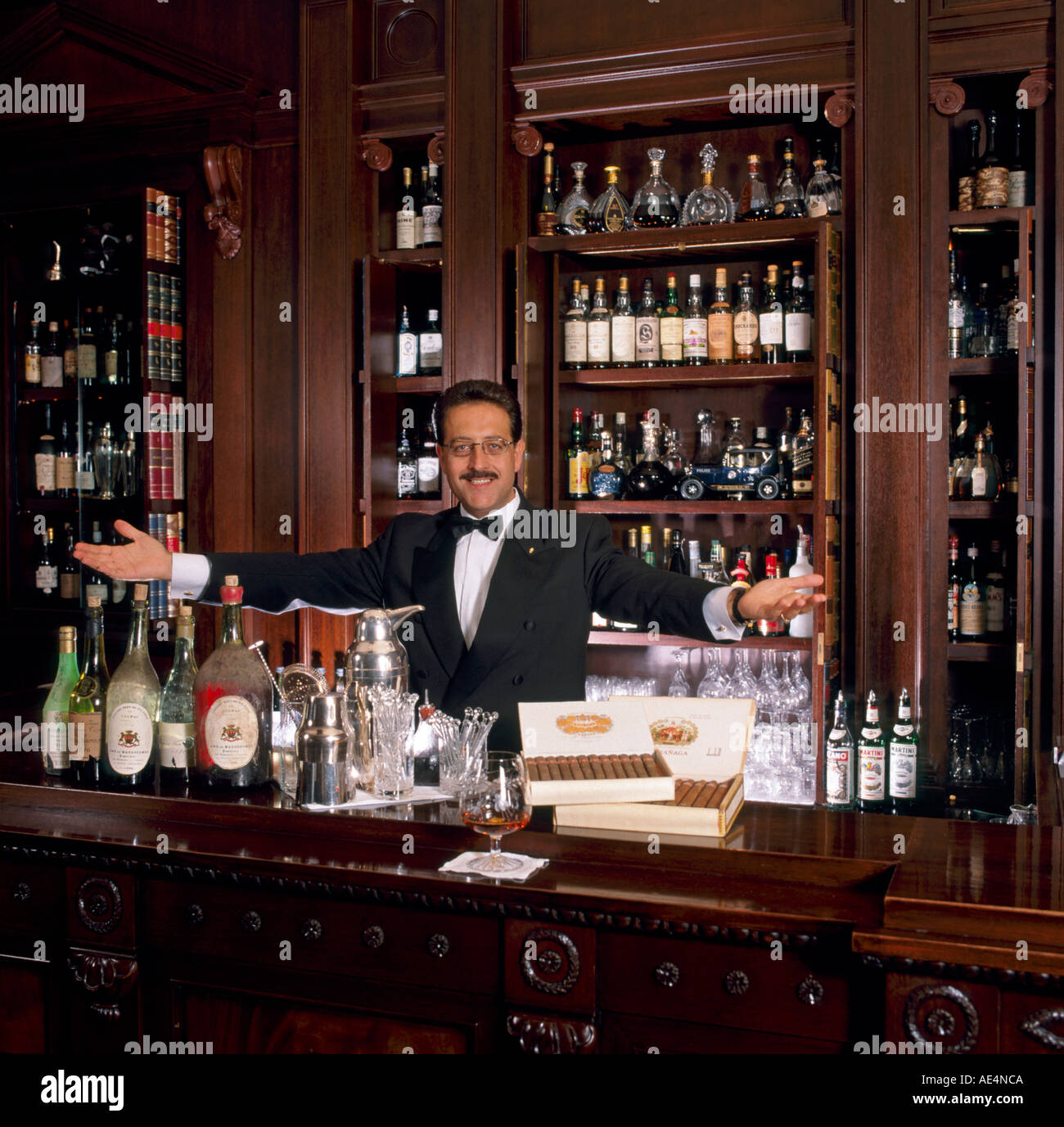 Barman at Lanesborough Hotel London SW1 England  Stock Photo