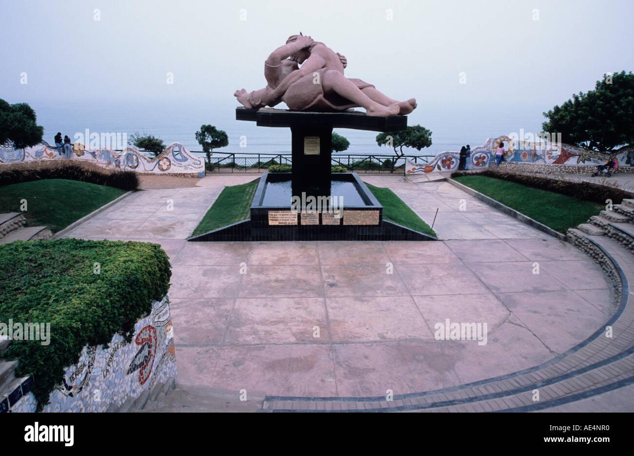 Parque del Amor Miraflores Lima Peru - Stock Image