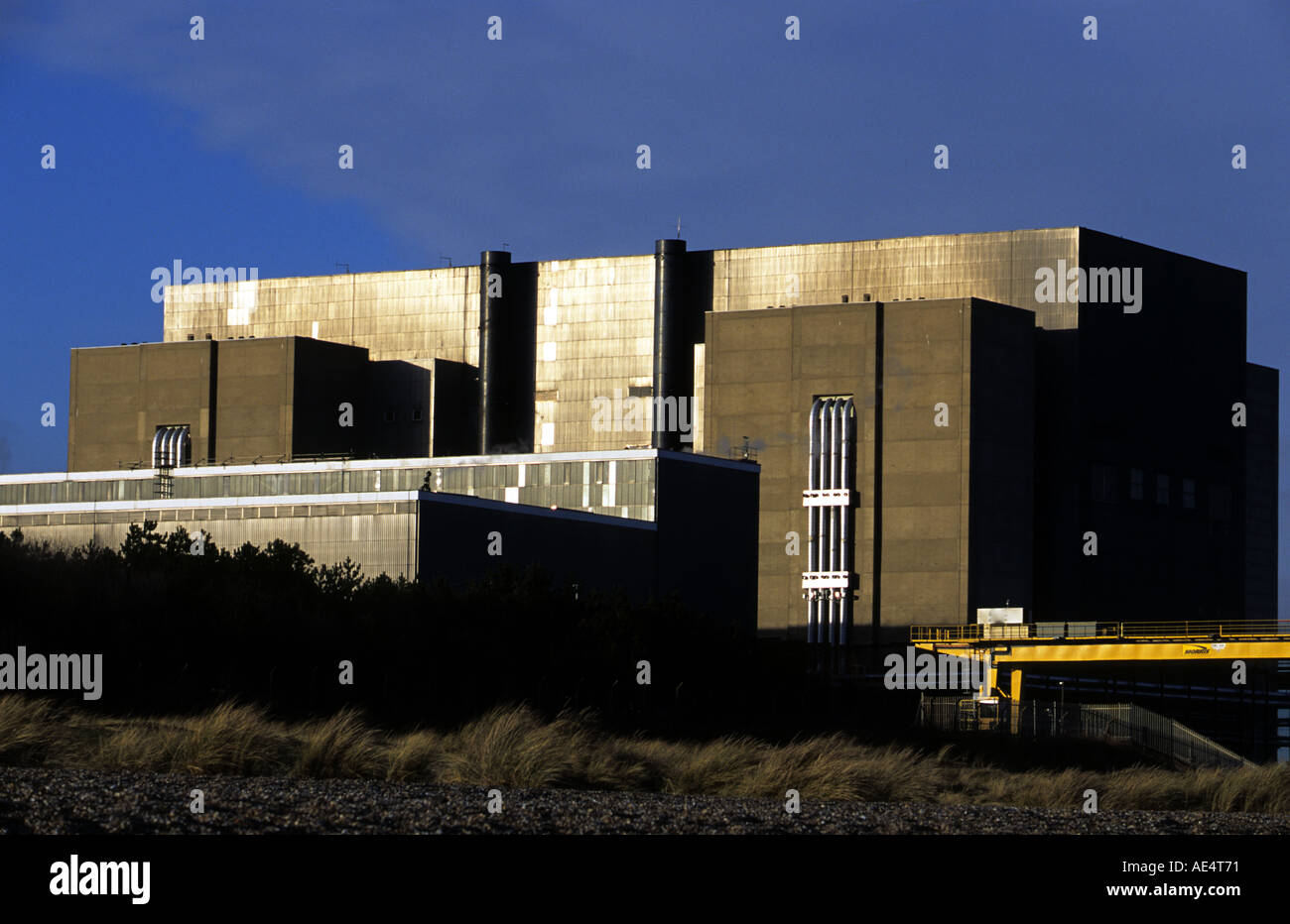 Sizewell A nuclear power station which is now going through decommissioning, Suffolk, UK. - Stock Image