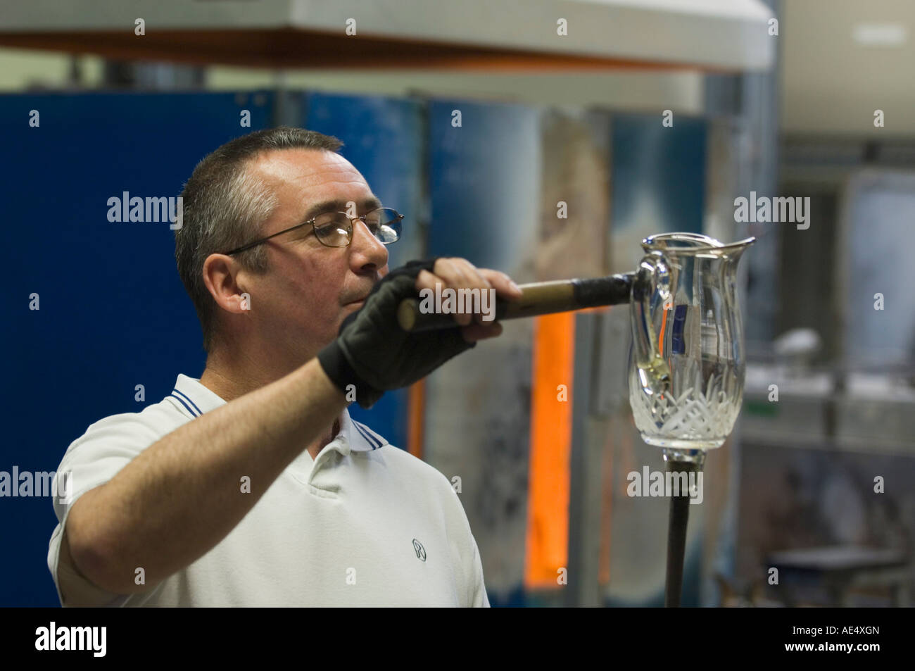 Waterford Crystal, Waterford, County Waterford, Munster, Republic of Ireland (Eire), Europe - Stock Image
