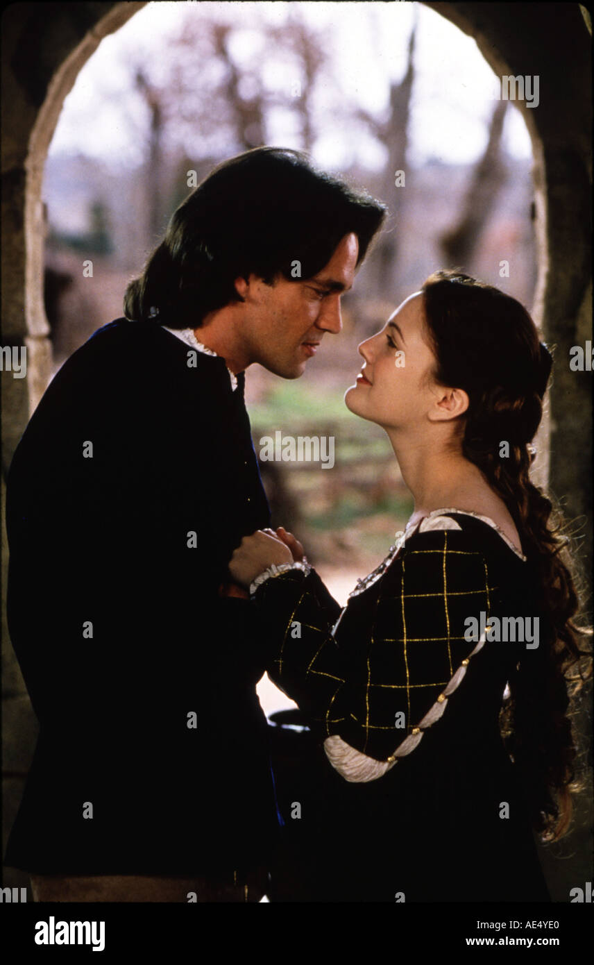 EVER AFTER A CINDERELLA STORY Drew Barrymore and Dougray Scott in the 1998 film - Stock Image