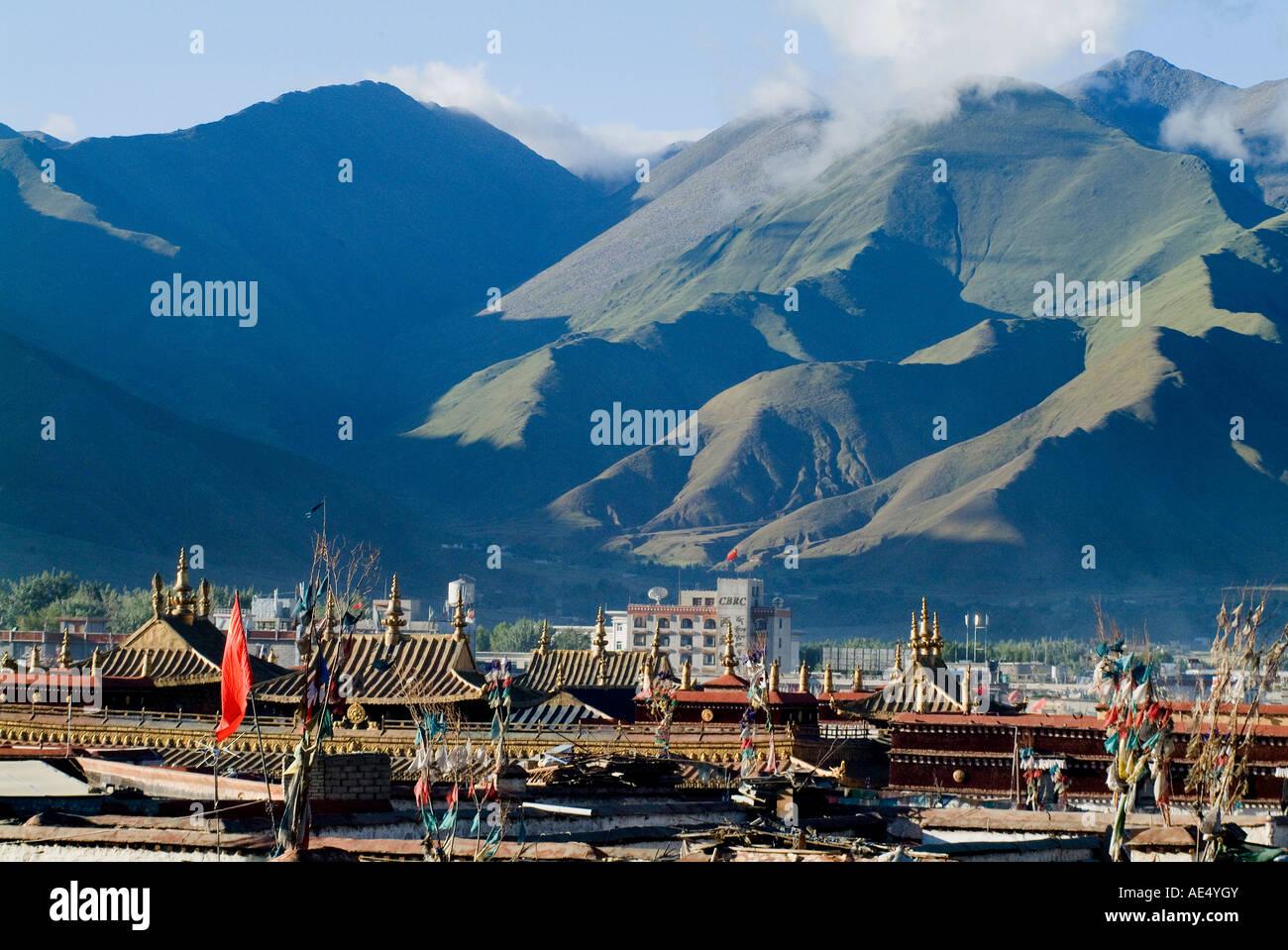 View over Lhasa, Tibet, China, Asia - Stock Image