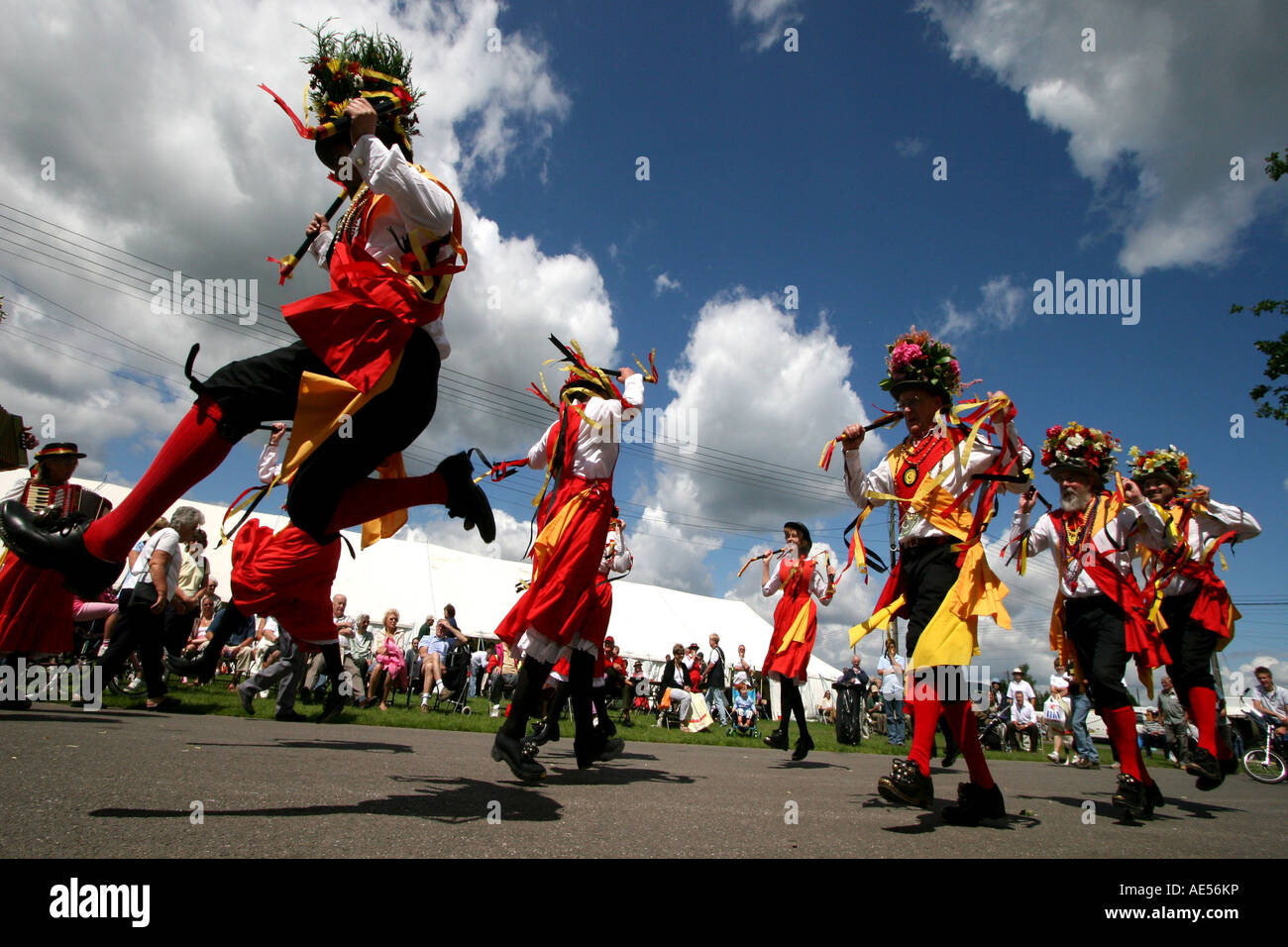 Morris Dancers at the Ardingly Showground, Sussex, England - Stock Image