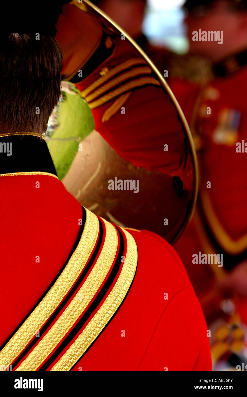 Military Band at Ardingly Showground, Sussex, England - Stock Image