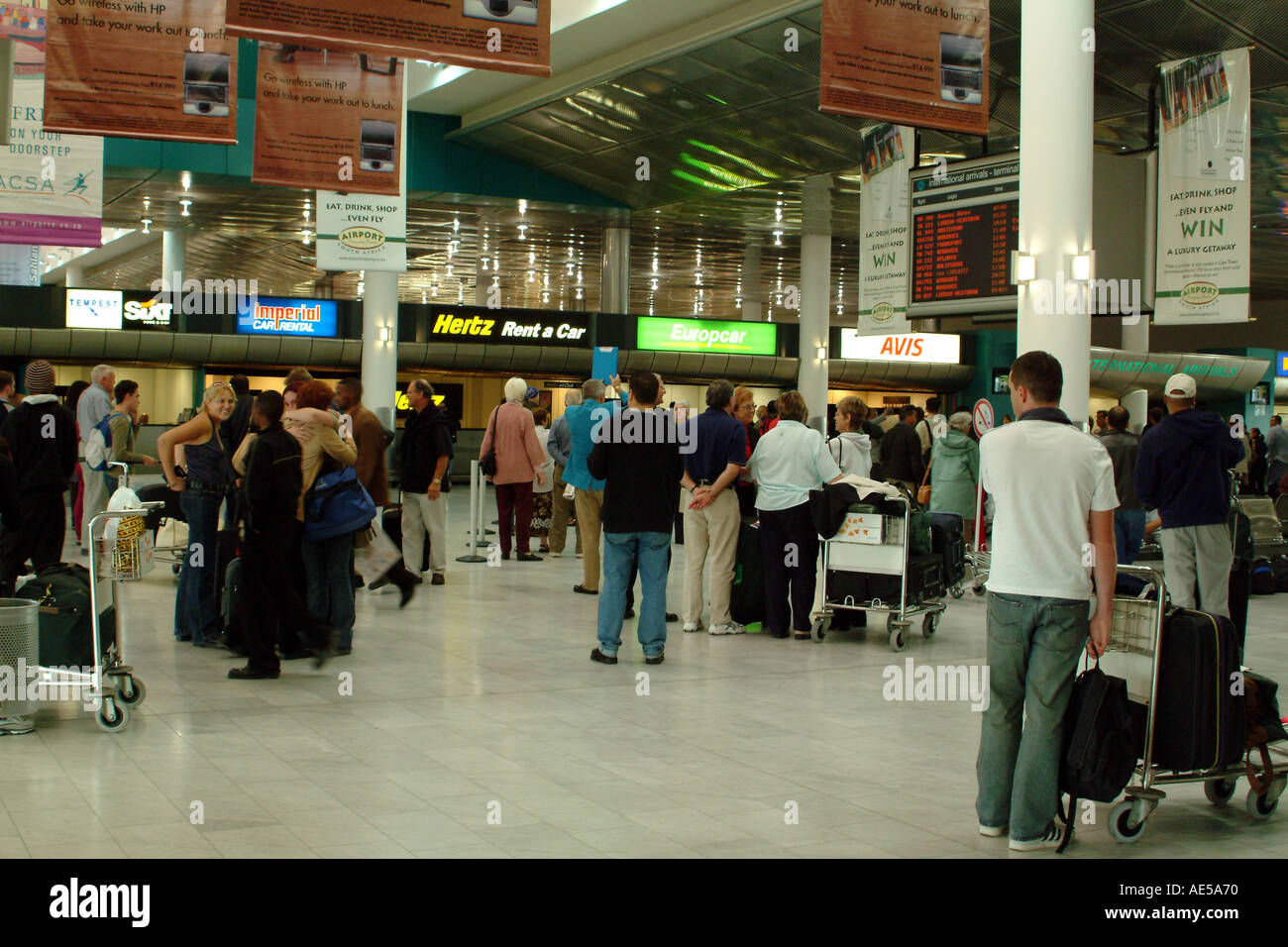 South Africa Cape Town International Airport Arrivals Hall Car Hire