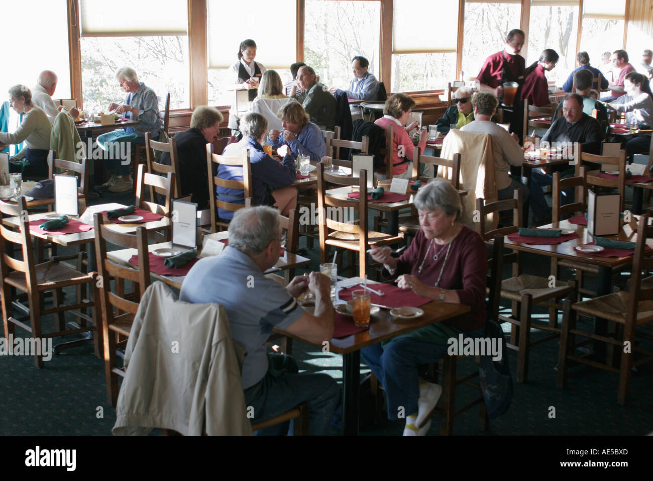 Shenandoah National Park VirginiaSkyland Resort Pollack Dining Room eating - Stock Image