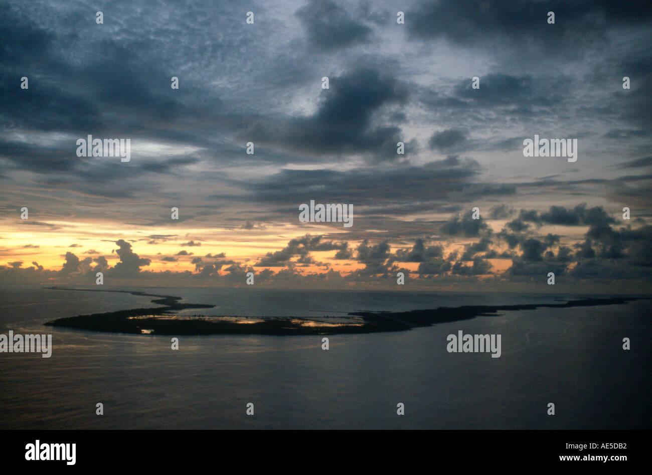 Island of Kiribati in the South Pacific - Stock Image