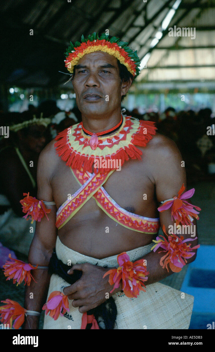 Chief on the island of Kiribati in the South Pacific - Stock Image