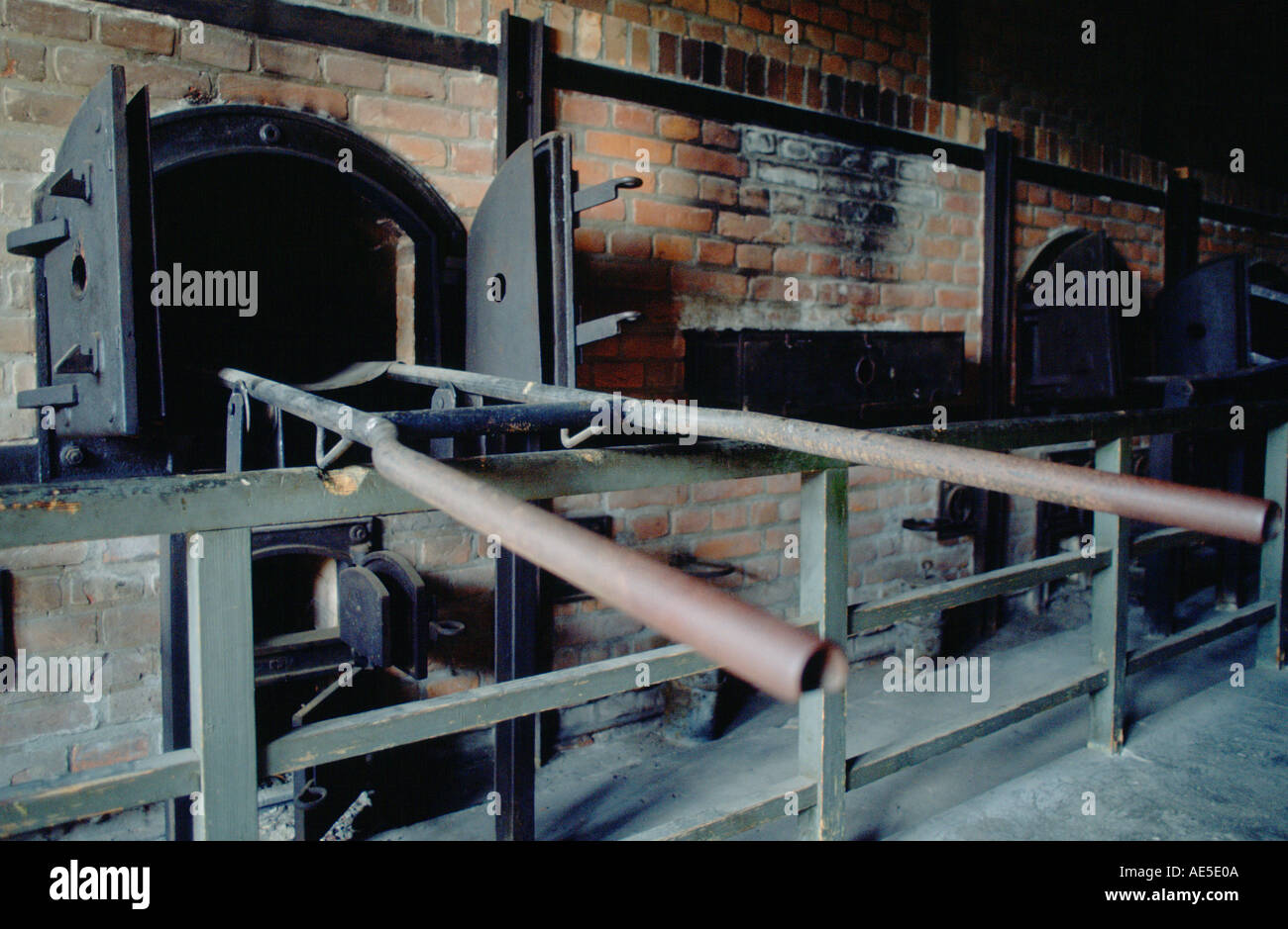 Gas ovens at the Majdanek Concentration Camp in Poland - Stock Image