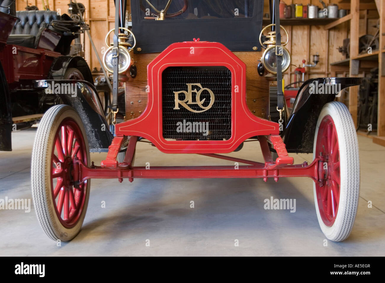 1908 REO Motor Car Company antique car Model C Runabout Shown at the ...