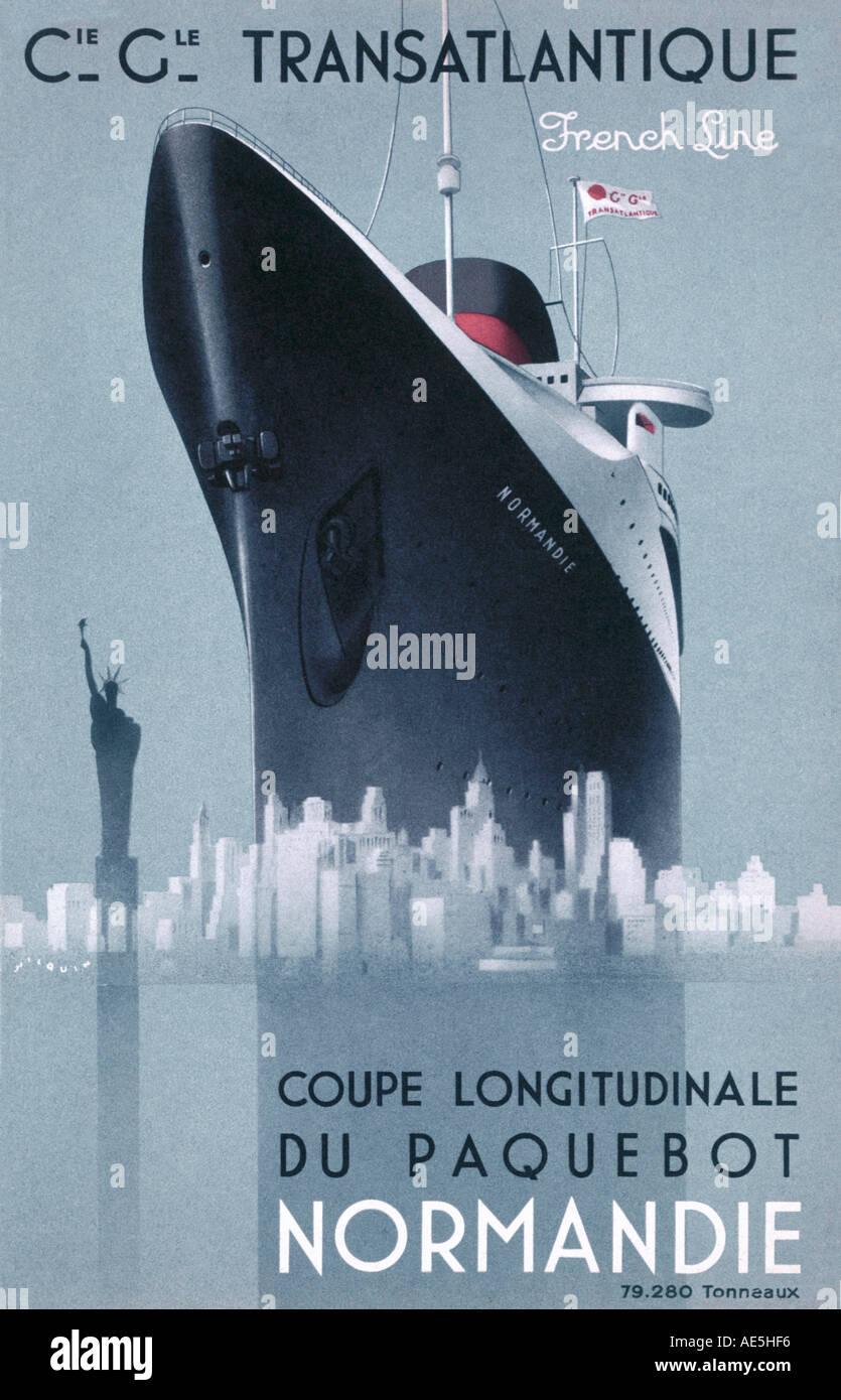Normandie Poster Stock Photo