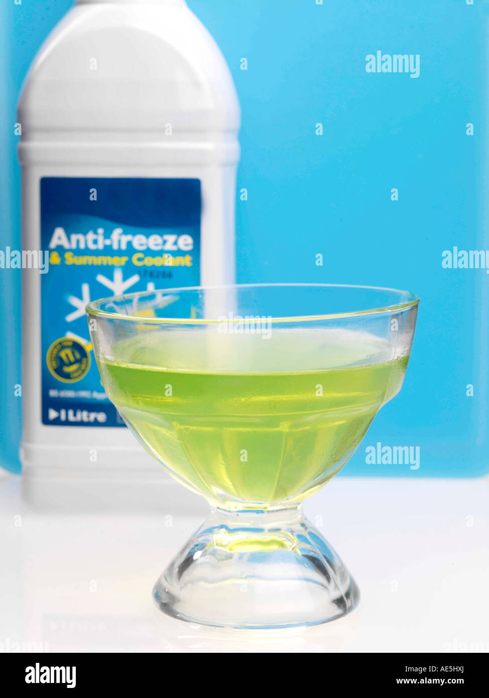Anti Freeze Stock Photos Images Alamy Frozen Engine Coolant Lime Jelly With Image