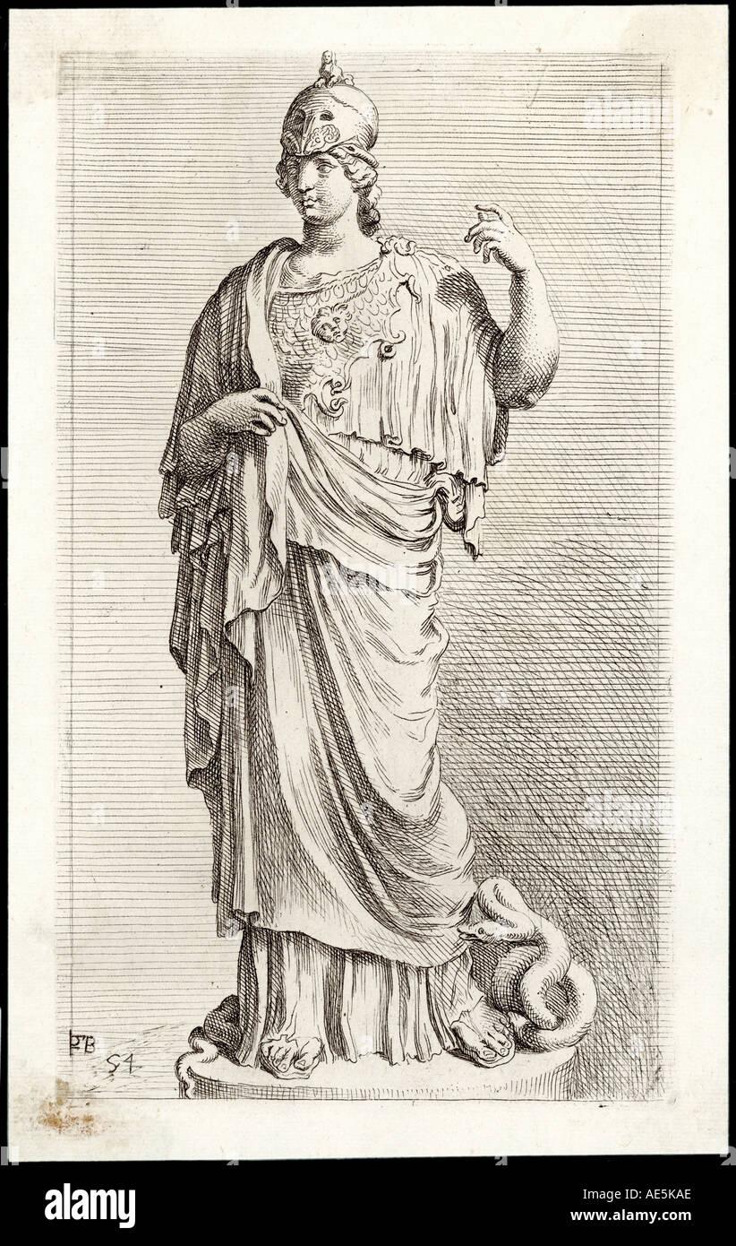 Myth Athena Minerva - Stock Image