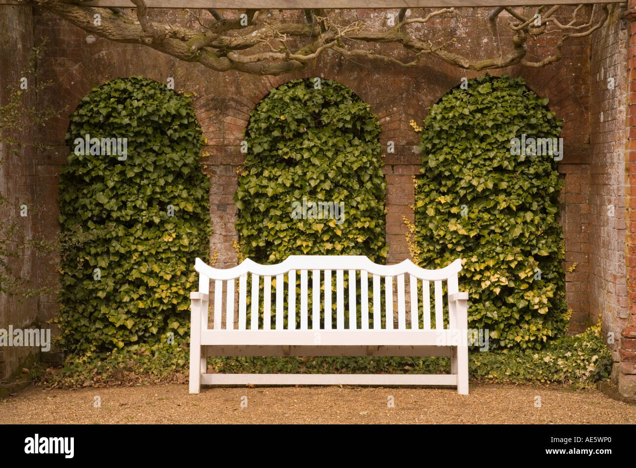 Surprising Wooden Bench And Alcove In Formal Garden Stock Photo Forskolin Free Trial Chair Design Images Forskolin Free Trialorg