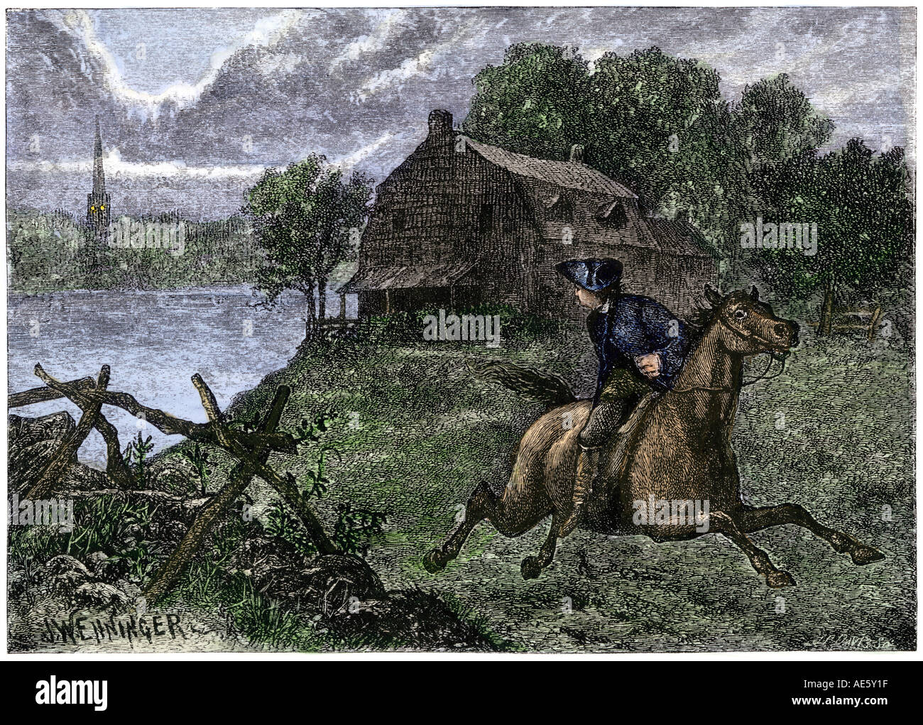 grant wood midnight ride of paul revere