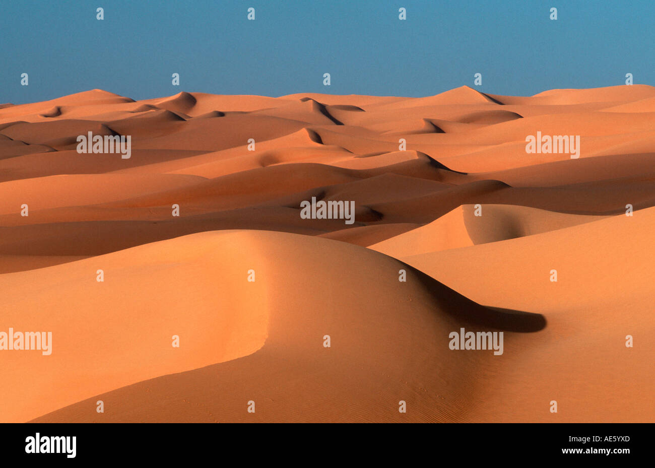 Sand Dunes, Sahara, Erg Ubari, Lybia - Stock Image