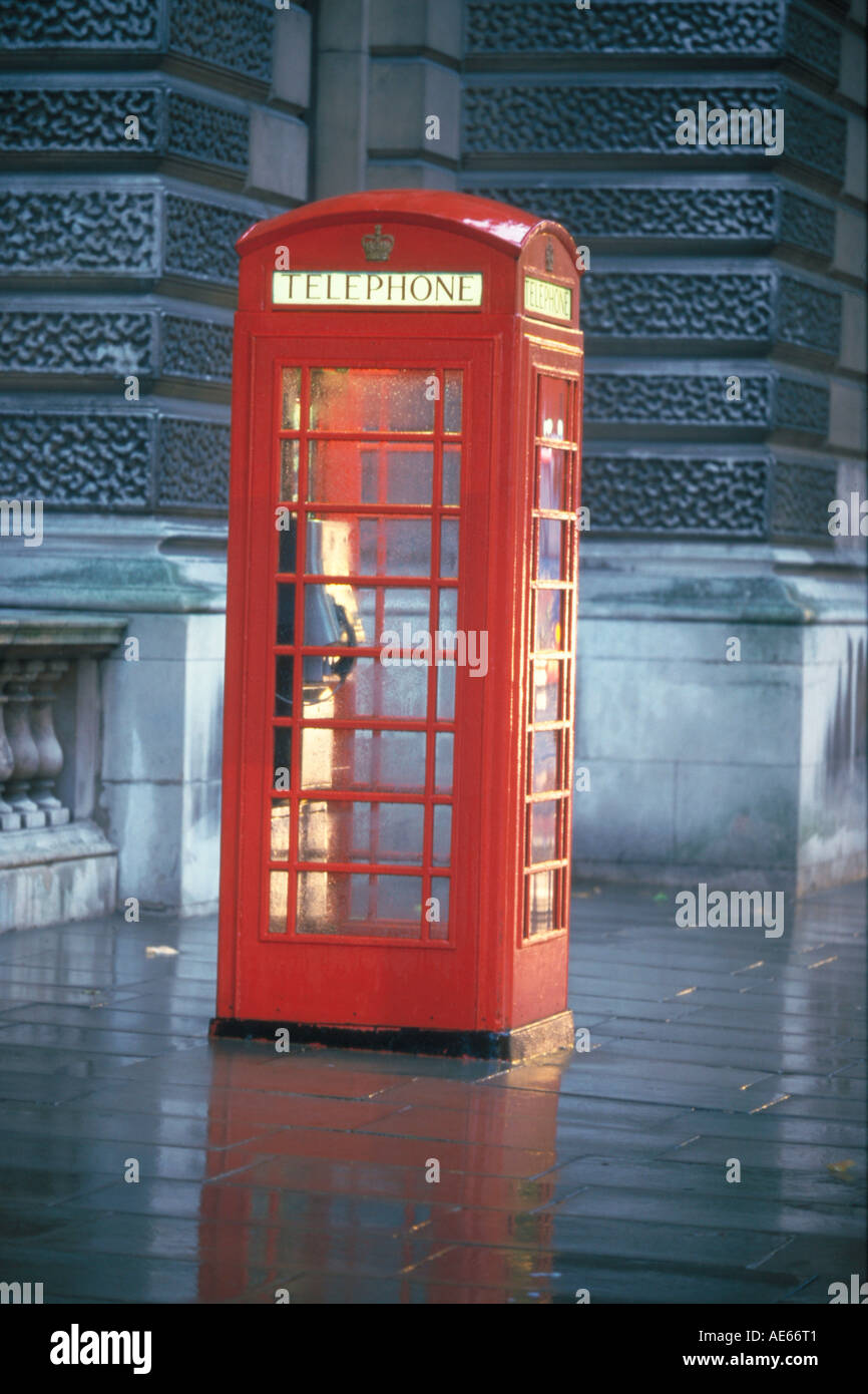 Telephone Box, London, England, Great Britain - Stock Image