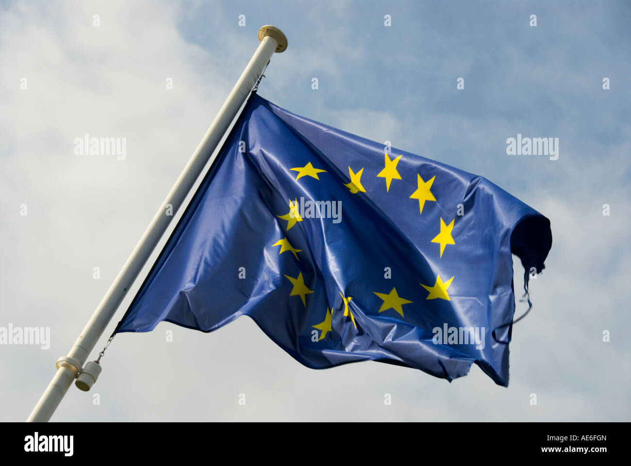 Image of the European Union Flag - Stock Image