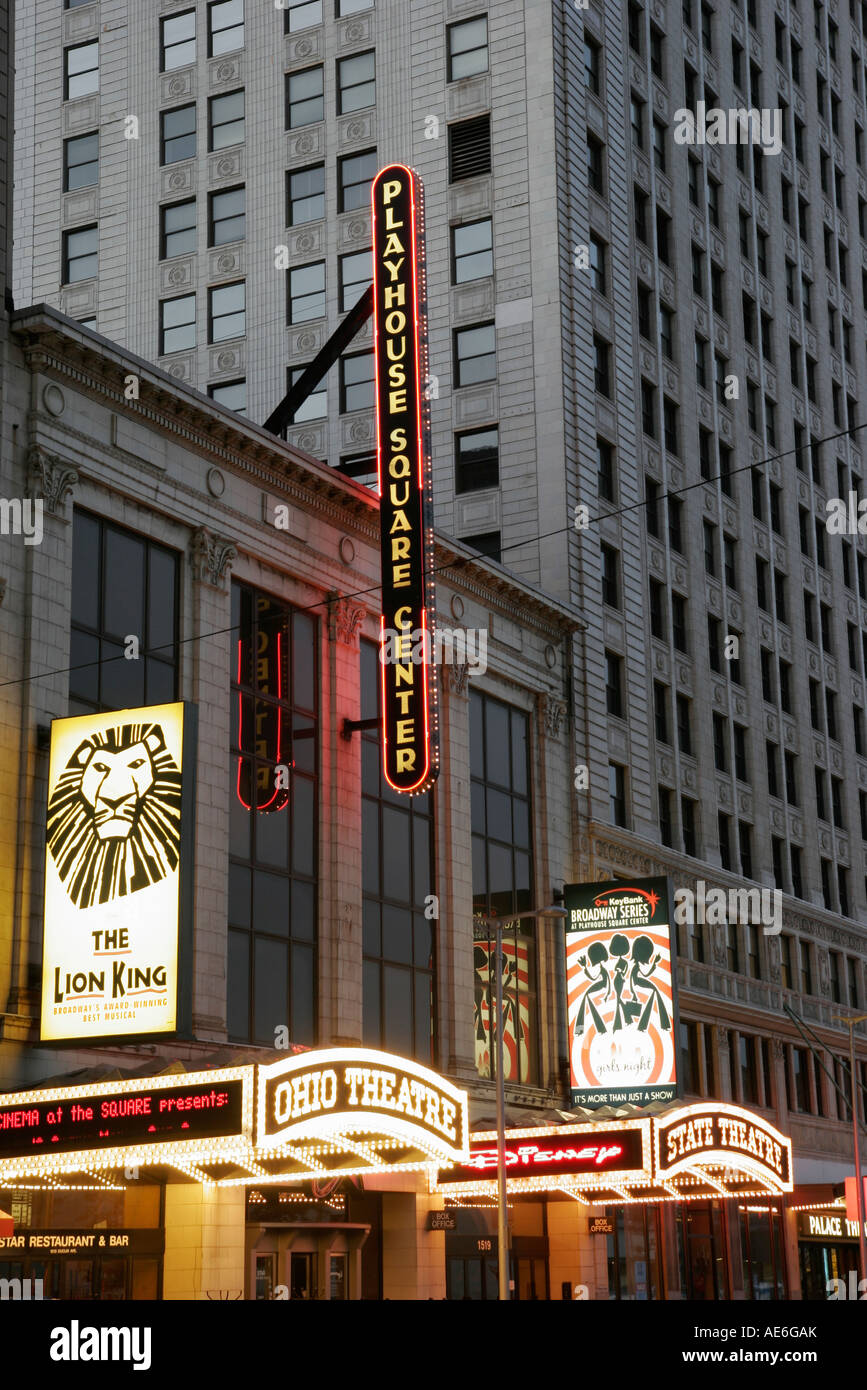 Cleveland Ohio Euclid Avenue Theater District Playhouse Square