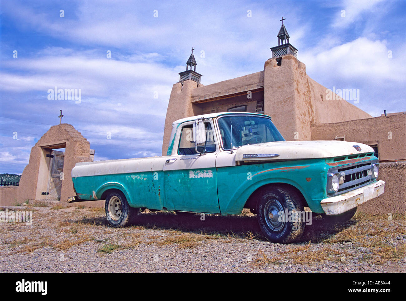 Ford F100 Pickup Truck Stock Photos 1969 Short Bed 1962 Mission Las Trampas