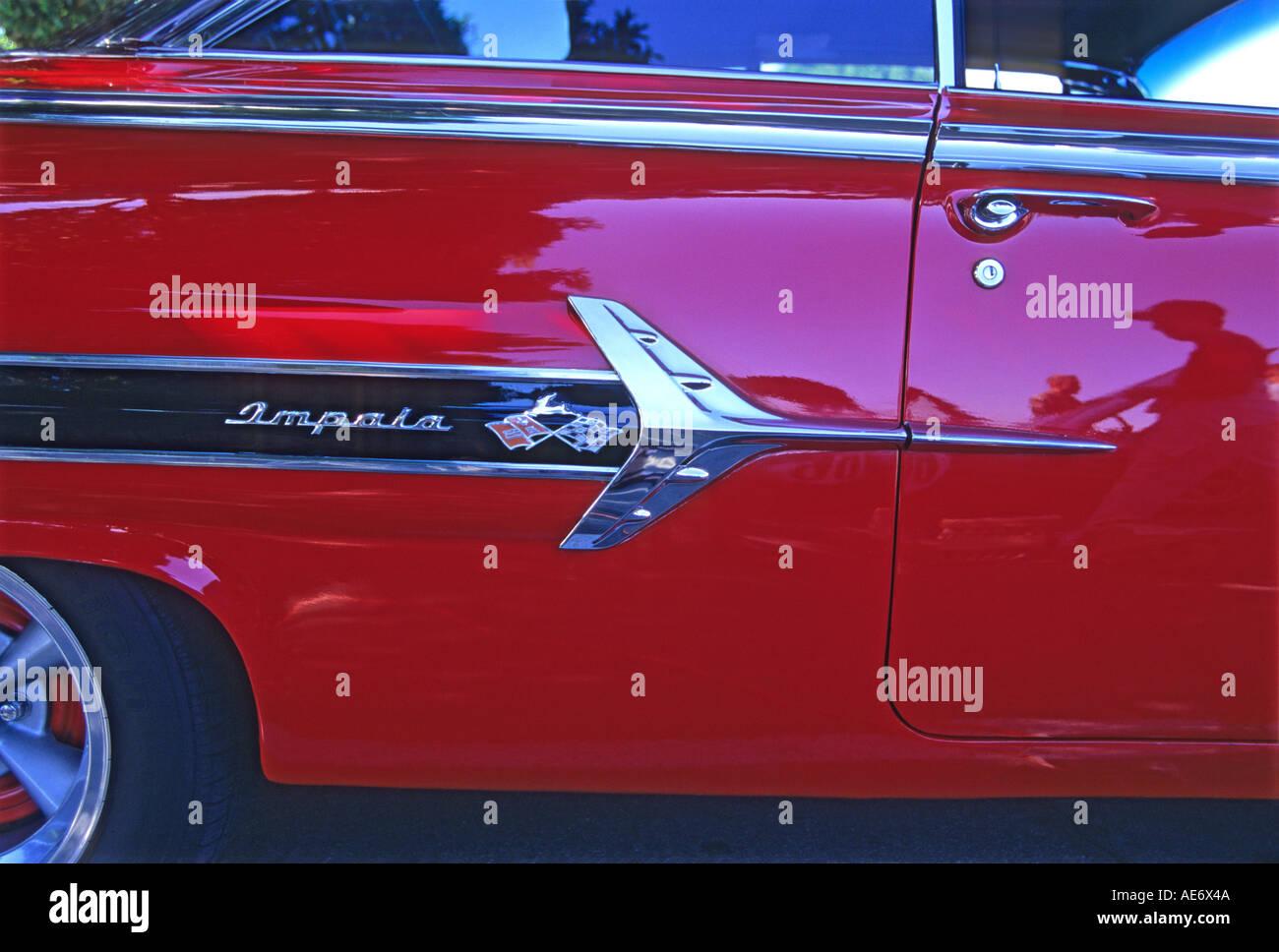 '^1960 Chevrolet Impala 2 door Coupe, ^badge, California' - Stock Image