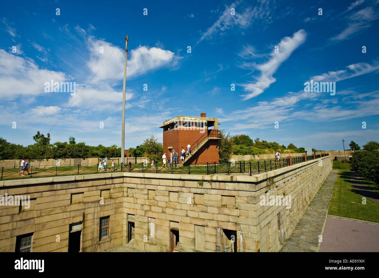 Fort Warren, Georges Island, Massachusetts, USA - Stock Image