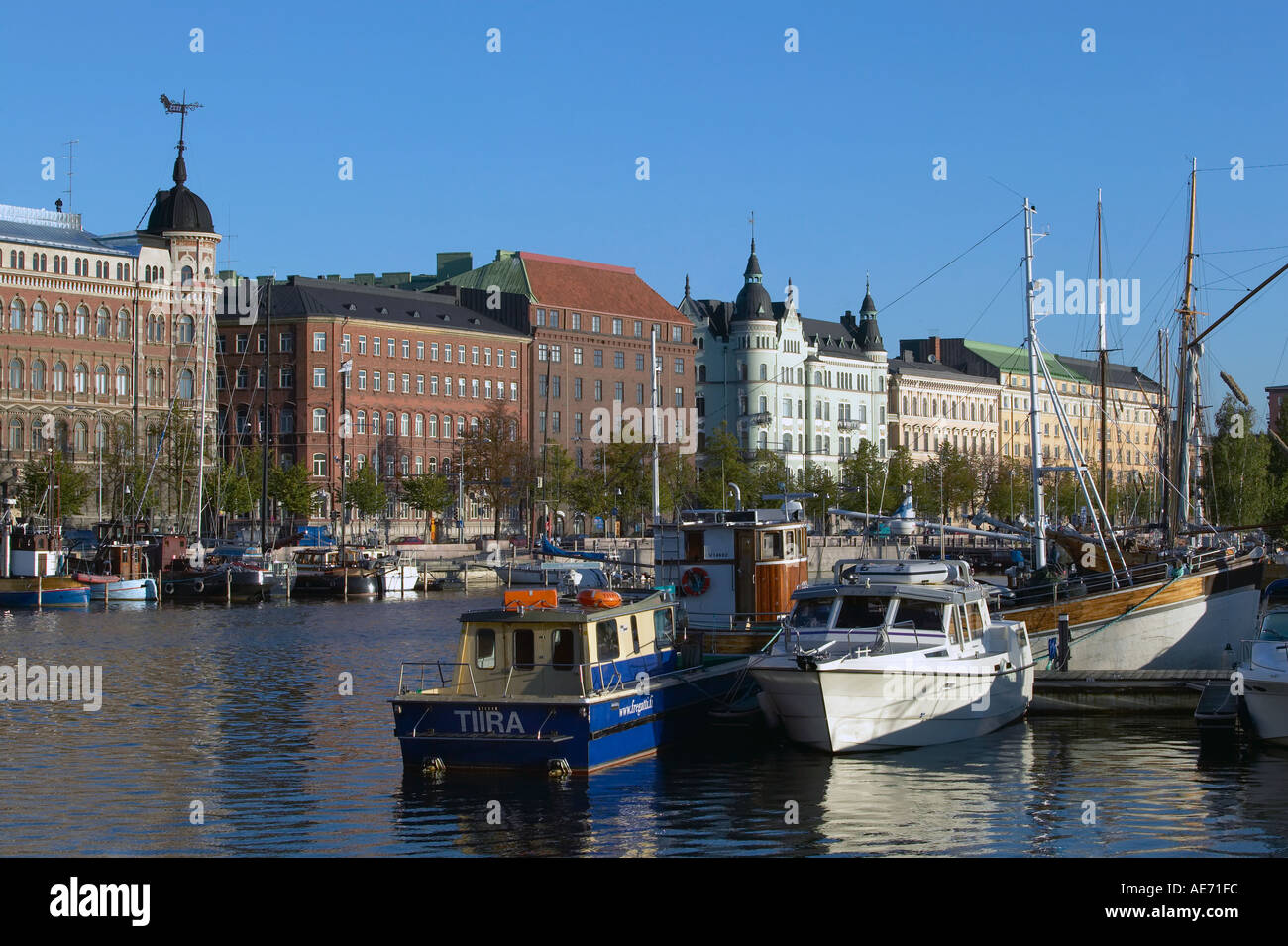 Finland Helsinki view accross North Harbour towards Pohjoisranta - Stock Image