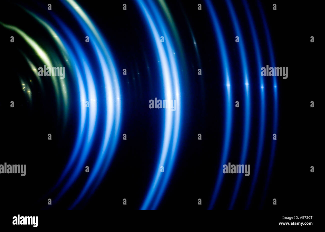 Radiating ripples of light. - Stock Image