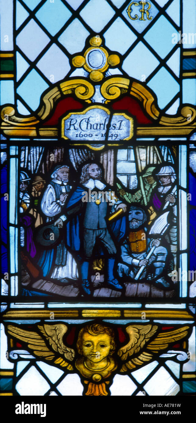 Charles I - Martyr St Andrews Parish Church Kingswood Surrey - Stock Image