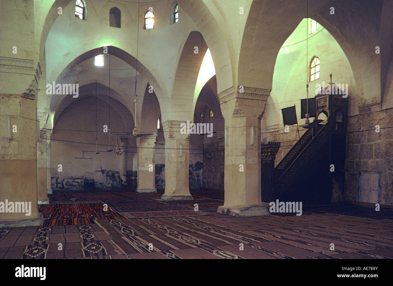 Great Mosque of Hama, Syria, demolished in 1982. - Stock Image