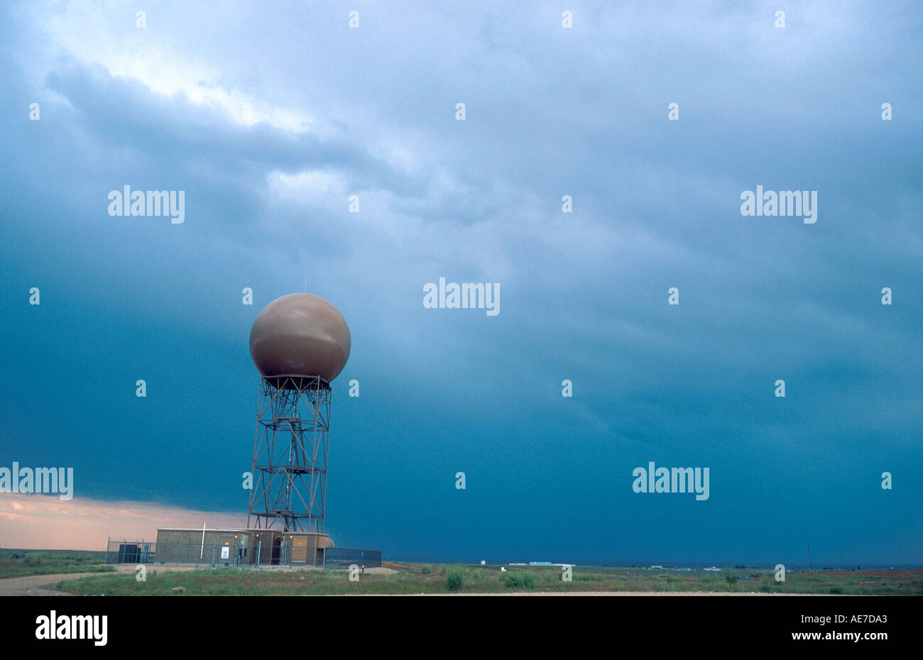 Doppler weather radar facility near Boise Idaho Stock Photo