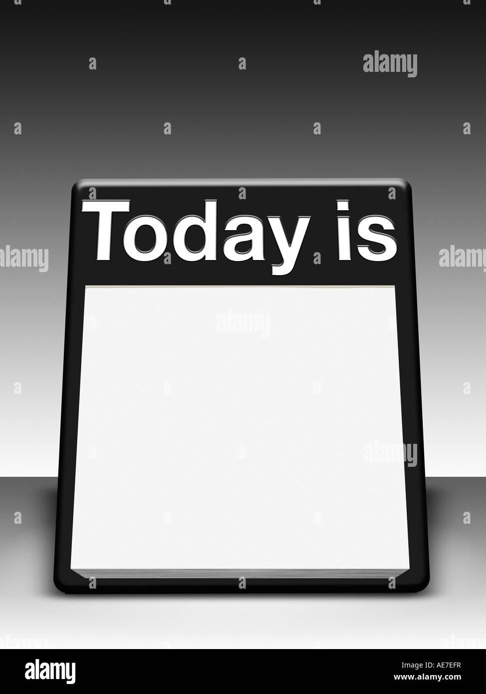 daily desk calendar