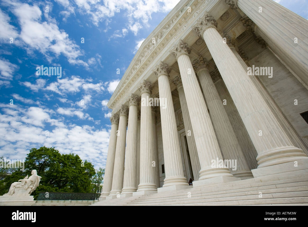 USA Washington DC Columns at the supreme court - Stock Image