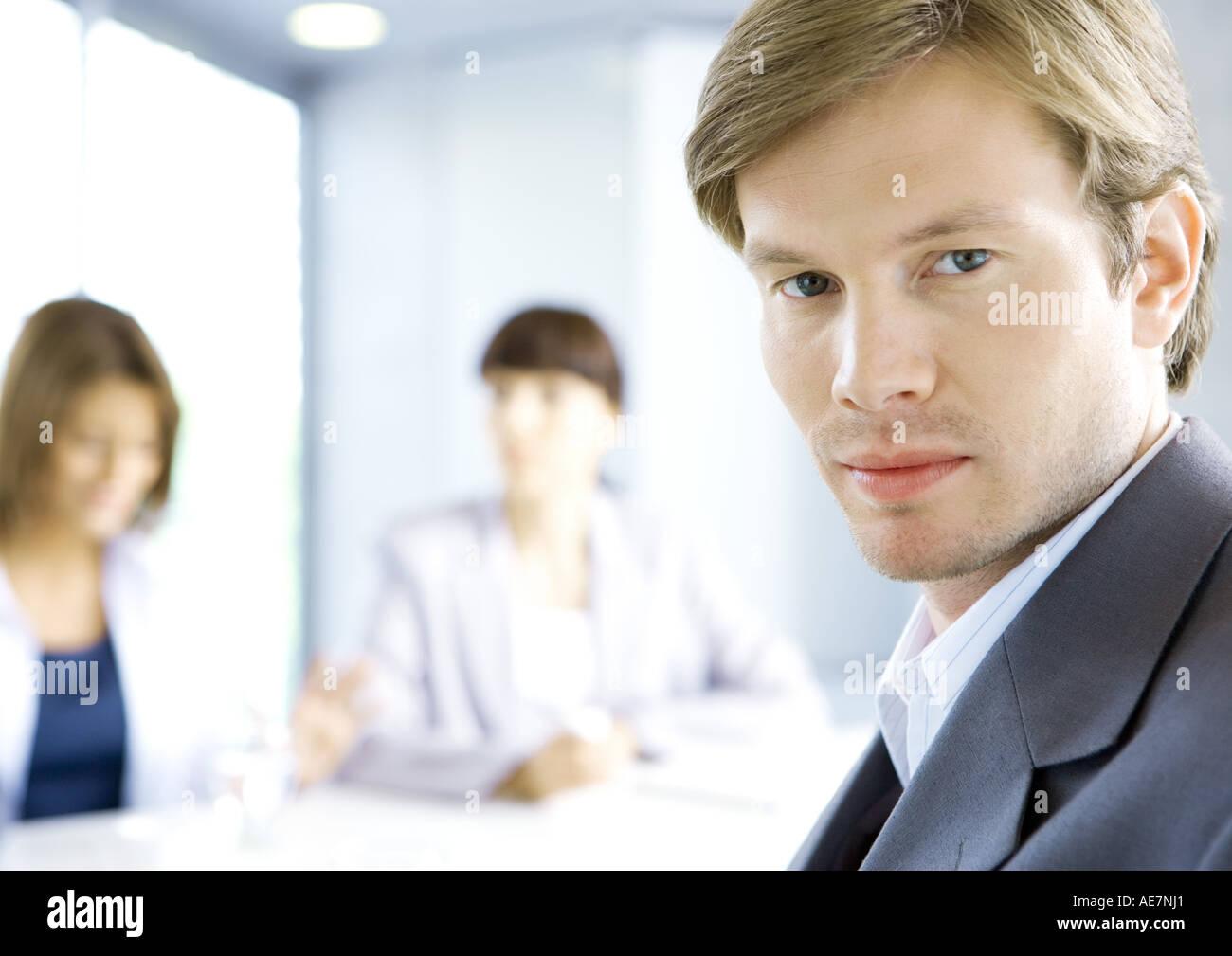 smug businessman meeting stock photos amp smug businessman