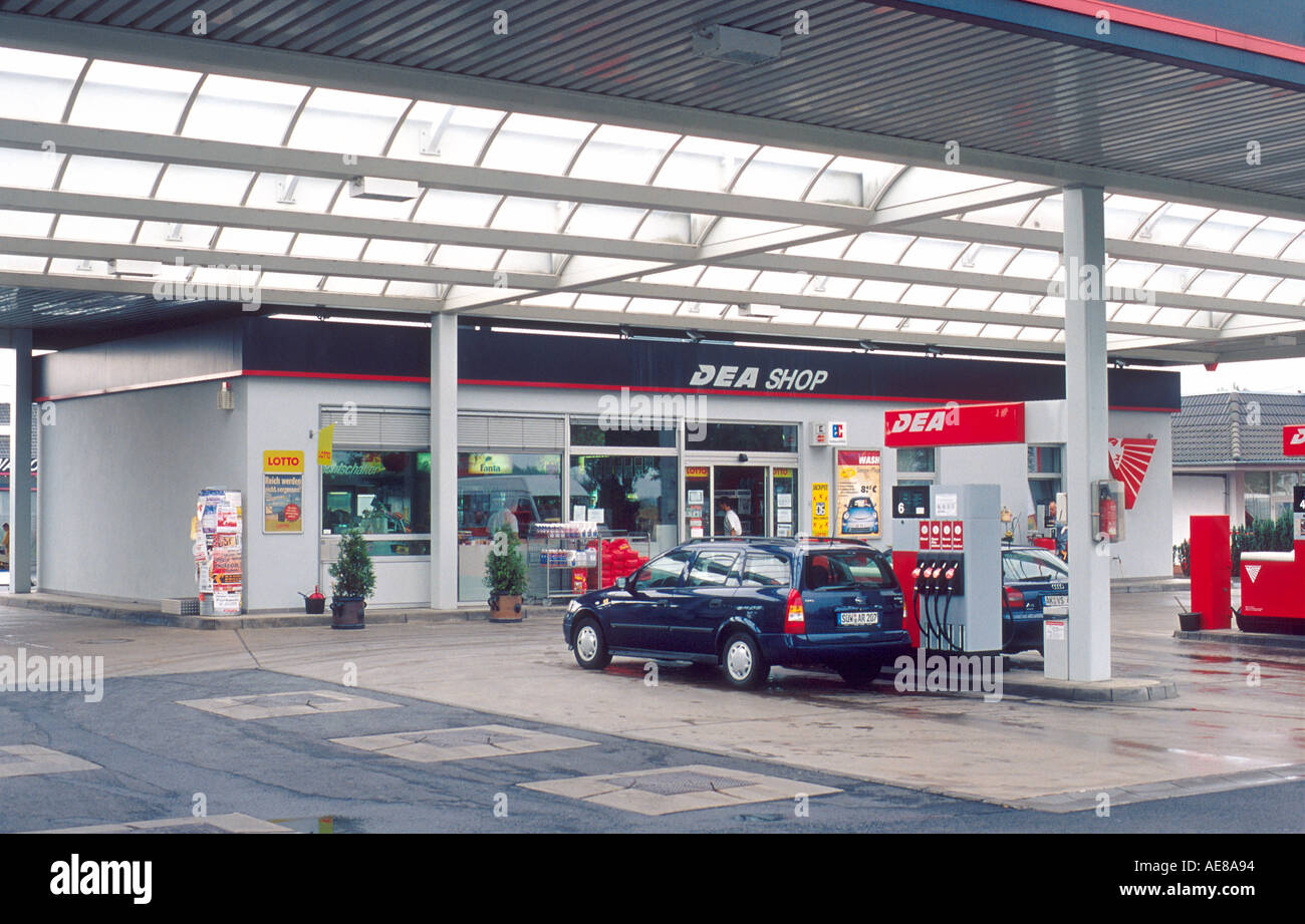 Near Gas Station >> Gas Station Convenience Store Near Dierdorf Germany Stock Photo