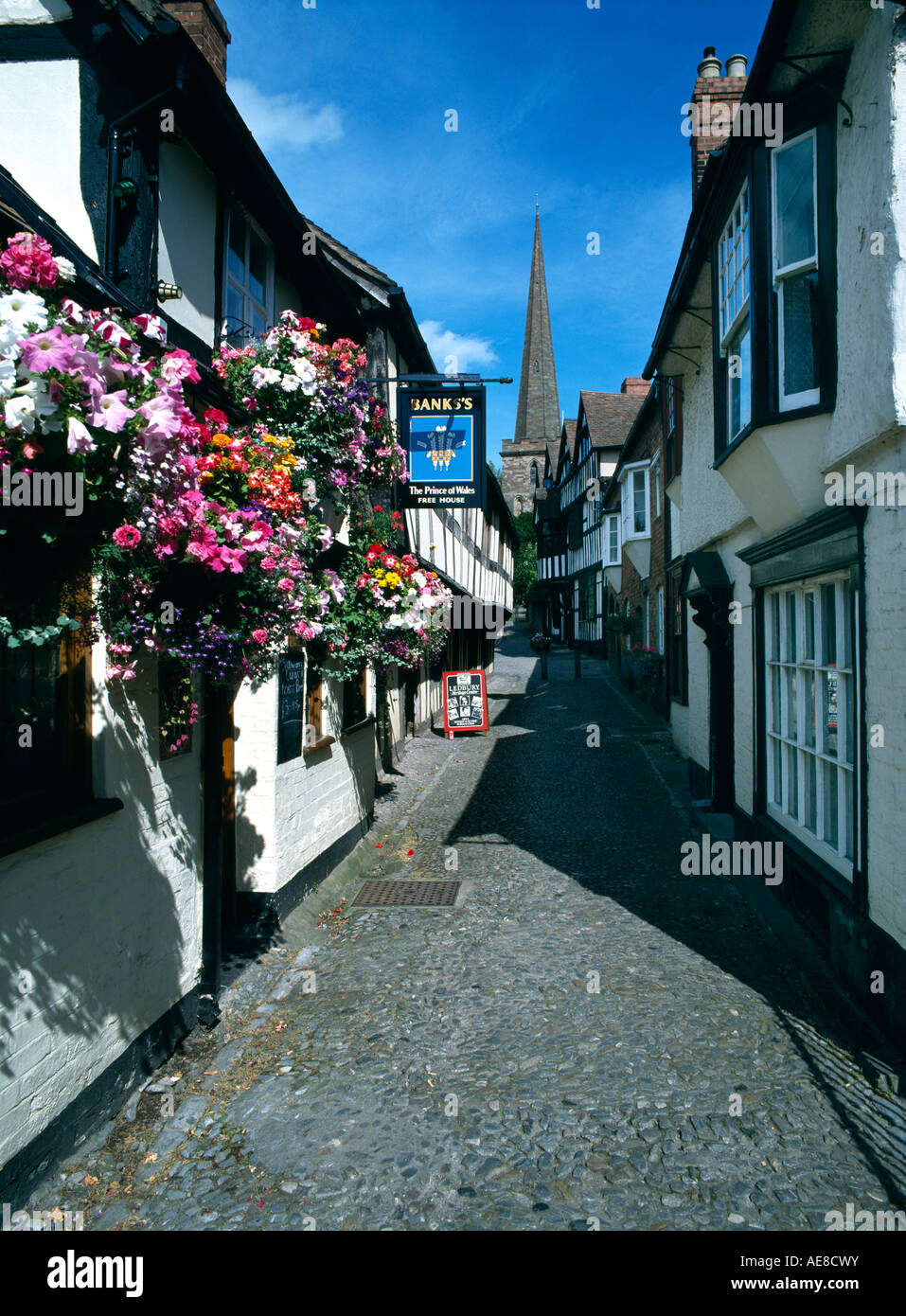 church lane, ledbury, herefordshire, england - Stock Image