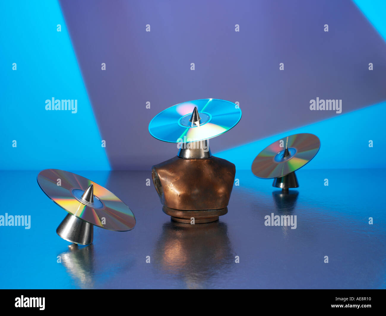 Three CD S - Stock Image