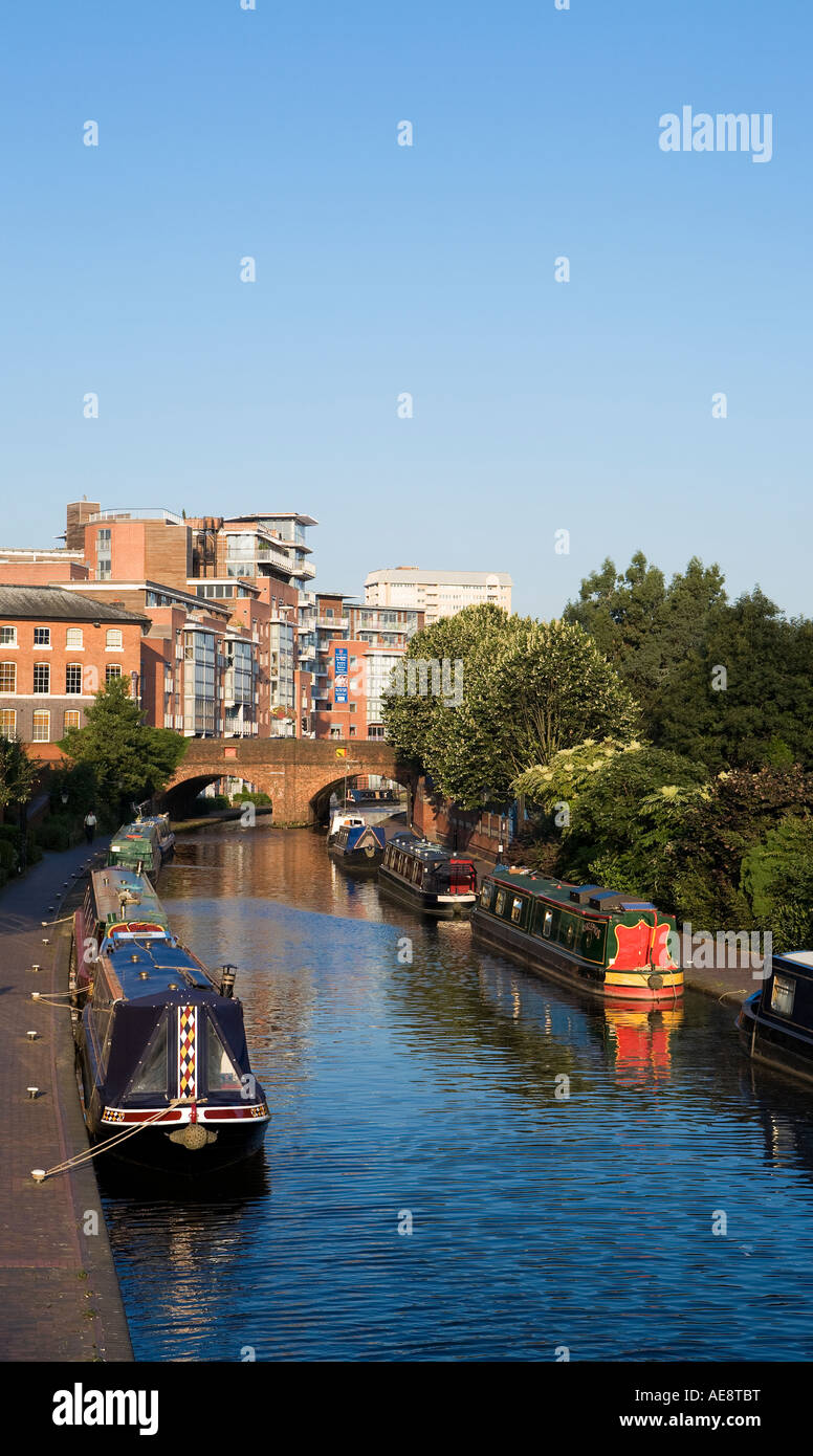 Birmingham Canal nr National Indoor Arena (NIA), Birmingham, UK Stock Photo
