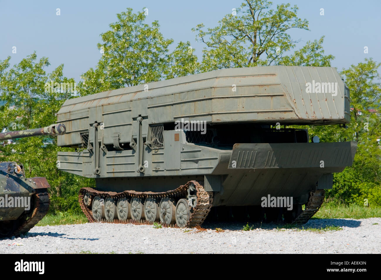 Pontoon military vehicle Stock Photo