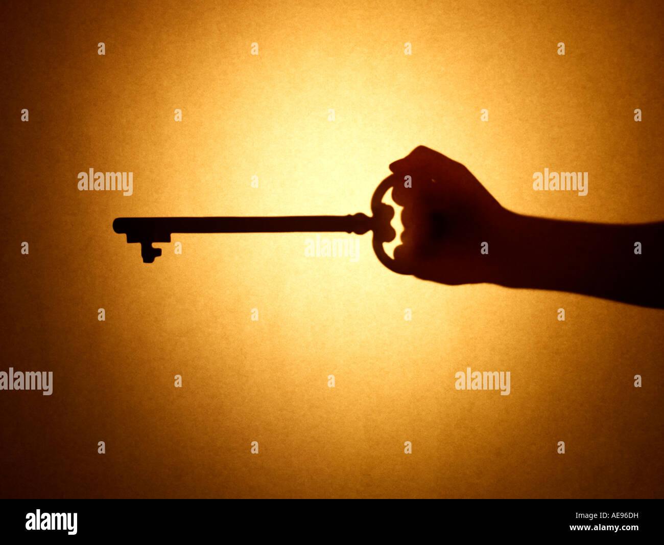 Key hand - Stock Image