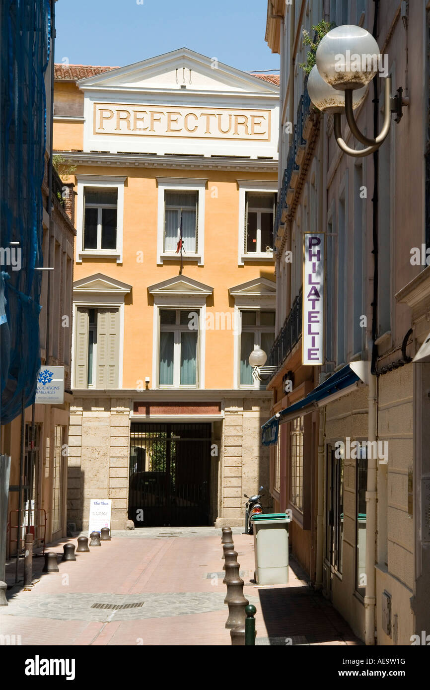 the Prefecture Building city of Perpignan Languedoc Roussillon France Europe Stock Photo