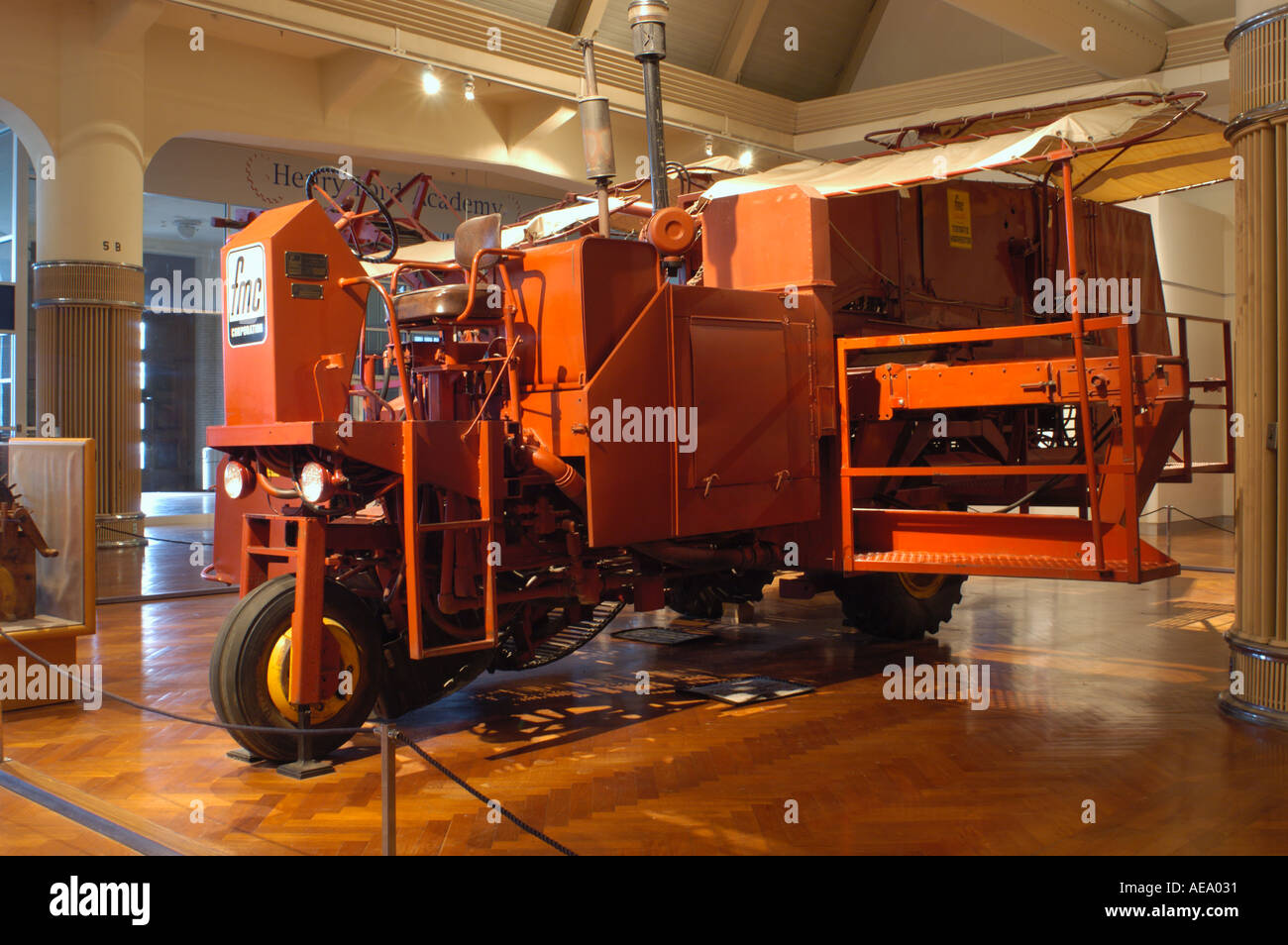 1969 FMC Cascade tomato harvester at the Henry Ford Museum in Dearborn Michigan - Stock Image