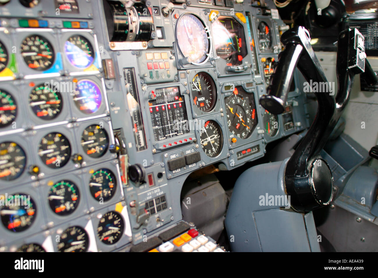 co pilot controls in concorde no property release Stock Photo