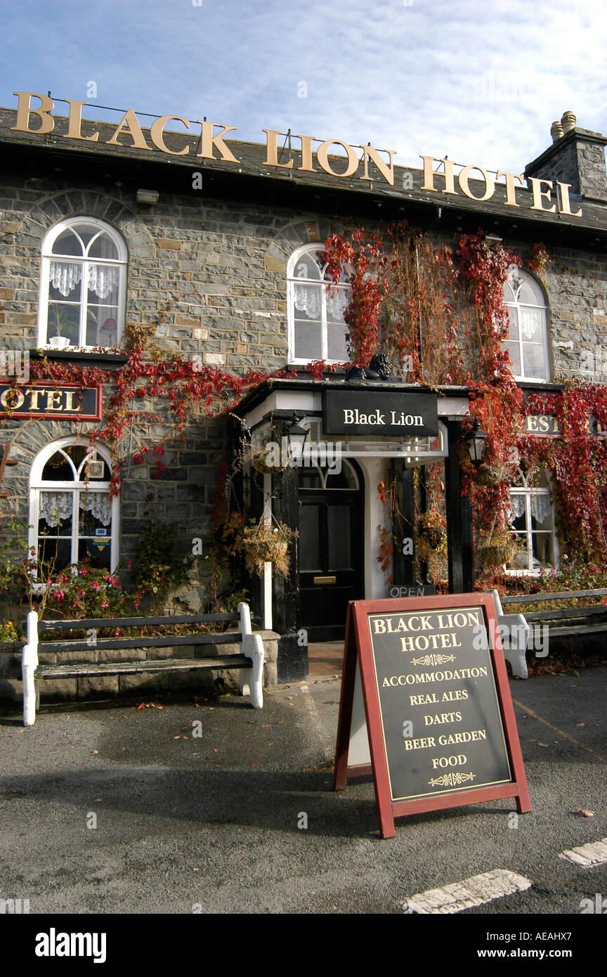 The Black Lion Hotel Talybont Ceredigion Wales UK - Stock Image