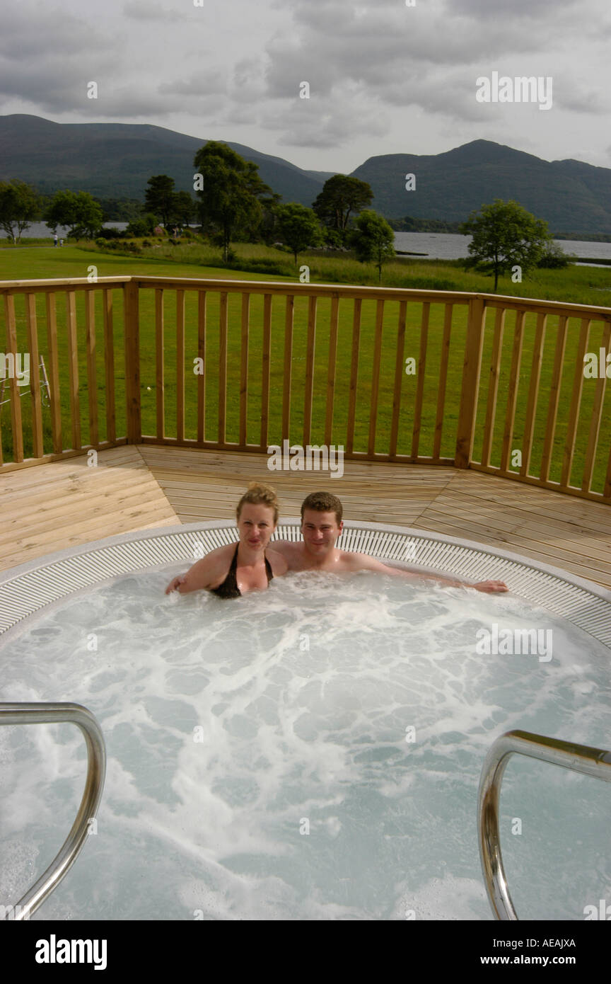 Husband Wife In Outside Jacuzzi Stock Photos & Husband Wife In ...