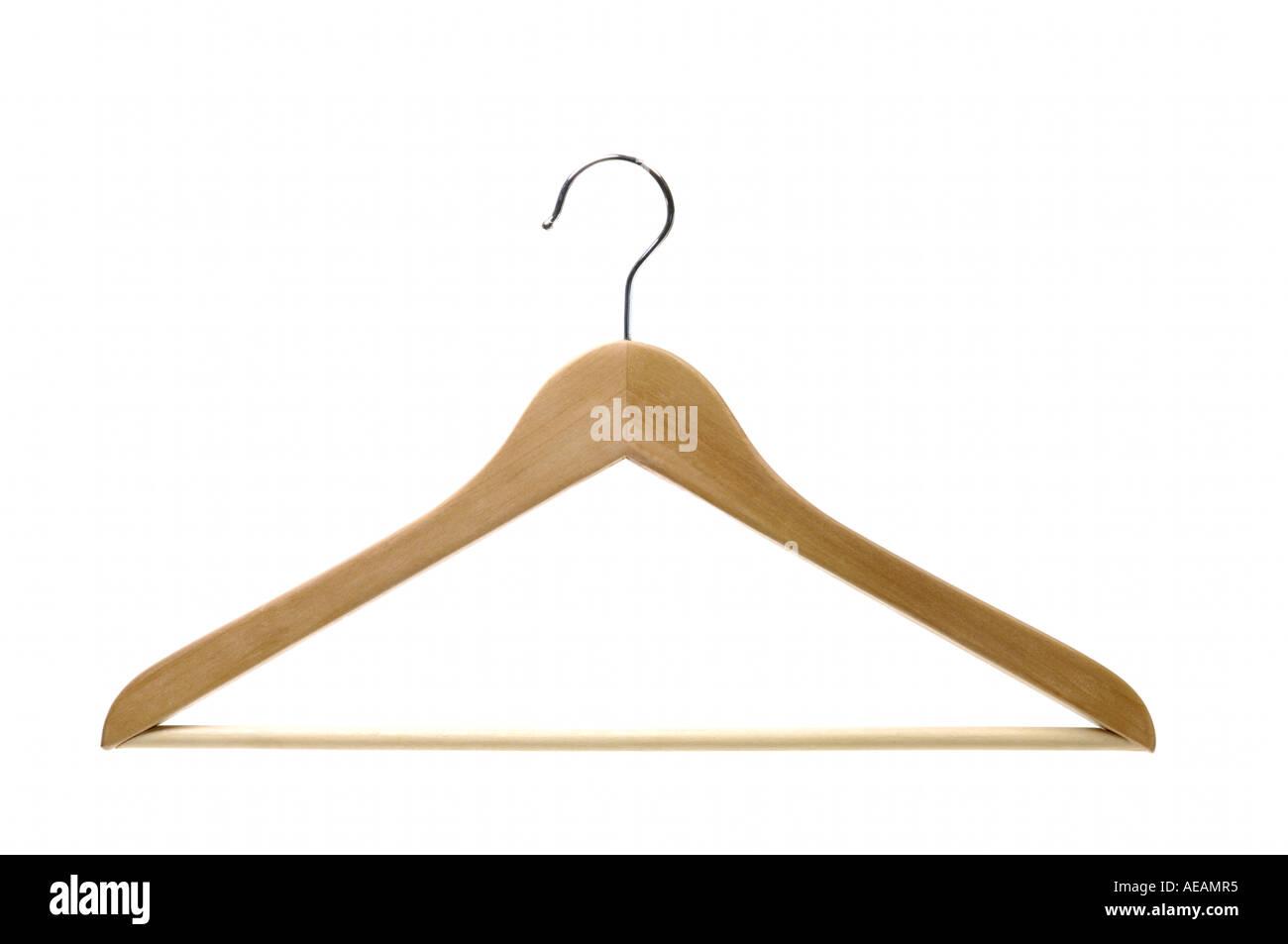 Wooden Hanger - Stock Image
