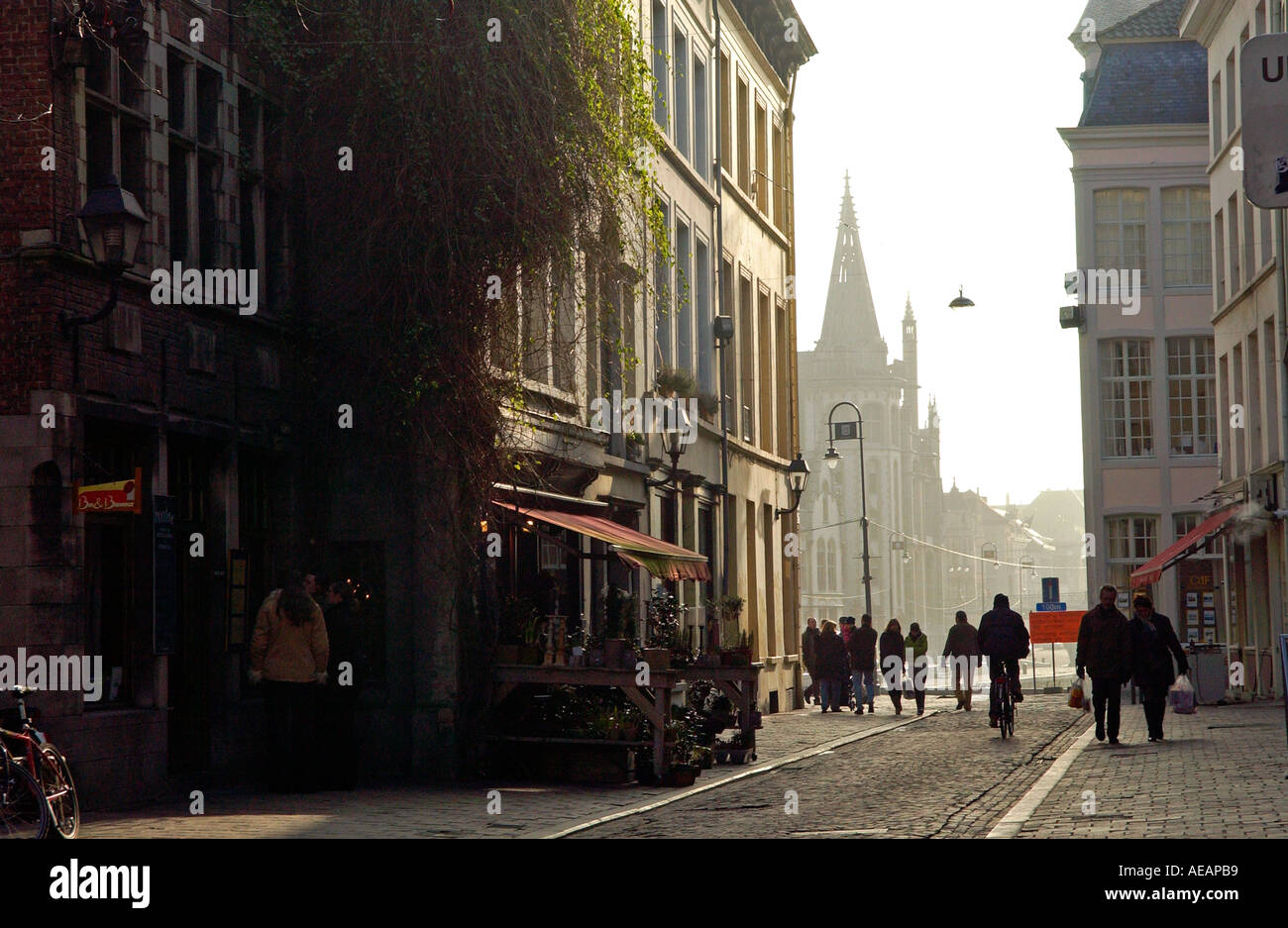 A street in Ghent Belgium Stock Photo