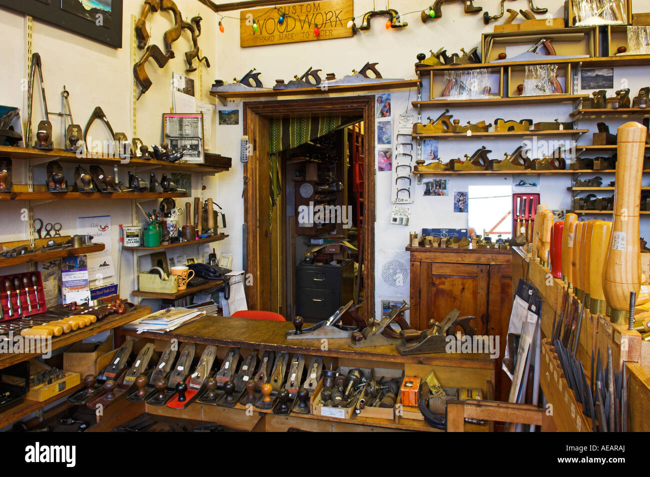 Interior Traditional Woodworking Tool Shop With Variety Old Antique
