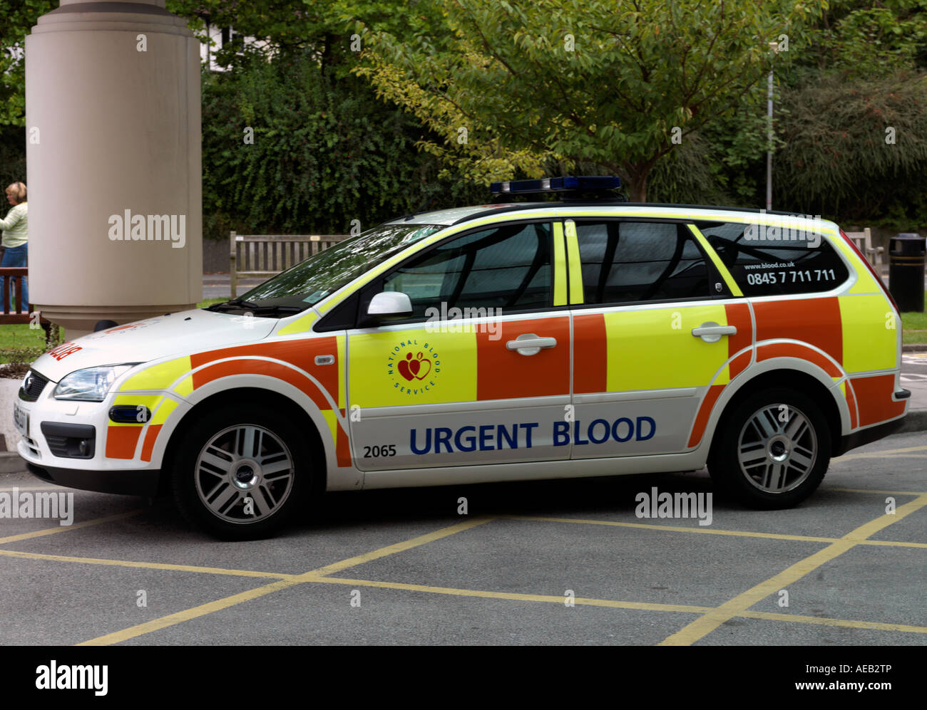National Blood Service Urgent Blood Ambulance Stock Photo