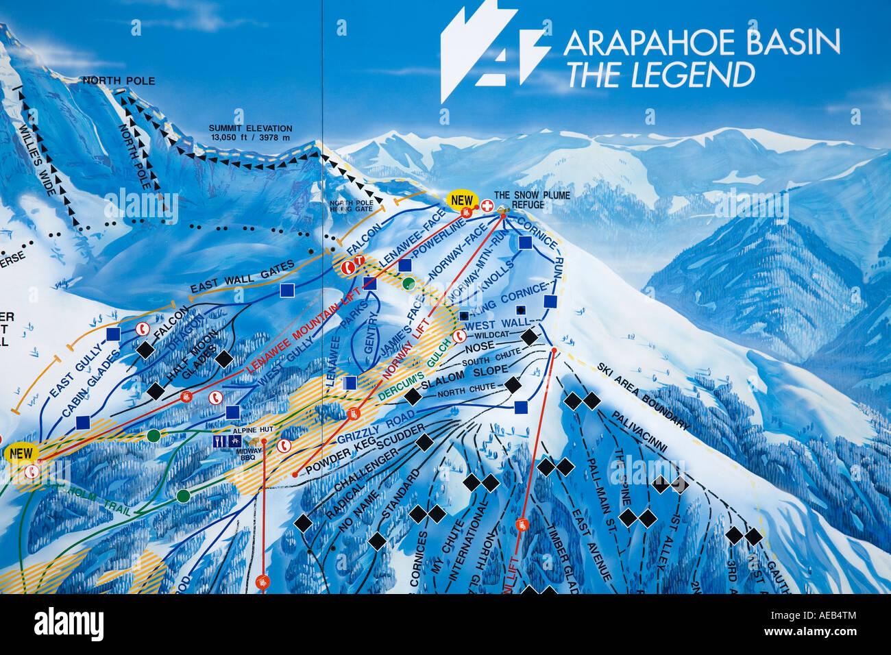 Map of Ski runs Arapahoe Basin Ski Resort Rocky Mountains Colorado Ski Resorts In Usa Map on locations of ski resorts map usa, map of utah ski resorts, map ski centers in usa, map ski resorts in france,